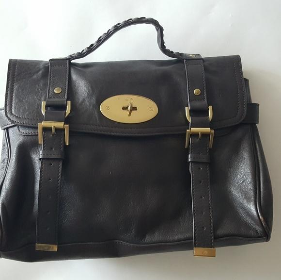 Mulberry Alexa Brown Leather Satchel. M 5b74b4b7035cf13c1b24059b 97964474df3c5